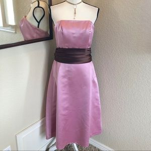 Bill Levkoff Strapless Cocktail Dress